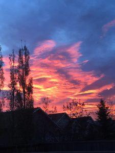 sunrise, sky