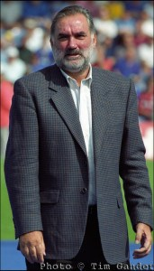 deceased footballer george best at portsmouth football ground