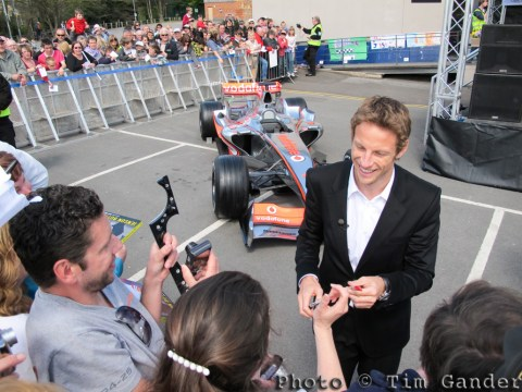 jenson button in frome, somerset