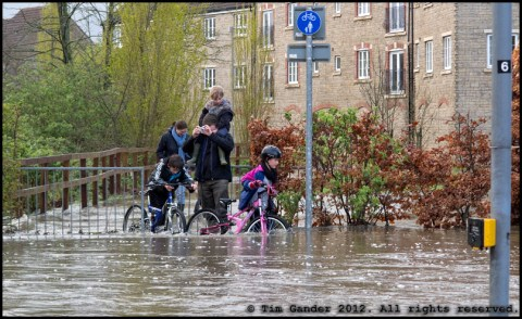 flood waters in Frome