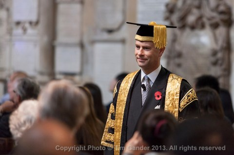 HRH Prince Edward installed as the new Chancellor of University of Bath.