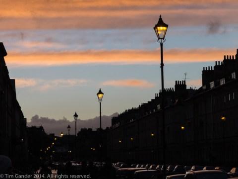 Looking down Great Pulteney Street in Bath
