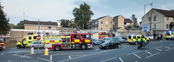 Fire crews attend a fire at Gorehedge residential home for the elderly in Keyford, Frome.