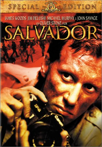 DVD cover of Salvador, an Oliver Stone film featuring James Woods.