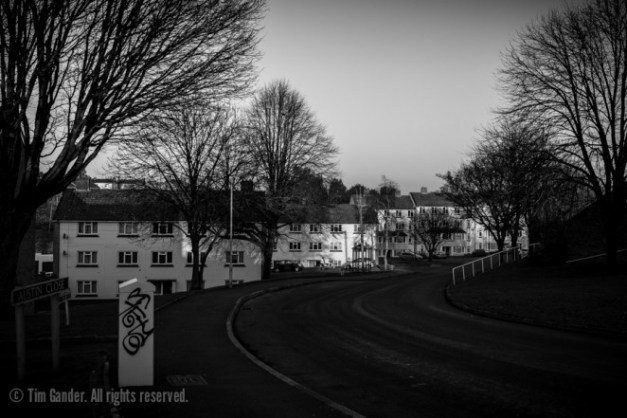 Feltham Drive looking towards Austin Close, The Mount, Frome, Somerset