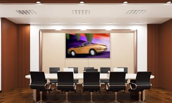 Bronze Cruisin' at the office, licht wooden frame (Ferrari GTS 365, 1969)