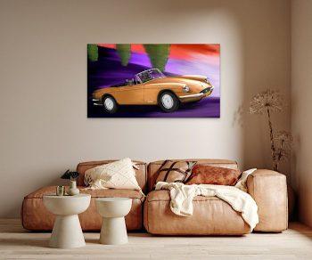Bronze Cruisin' above the sofa (Ferrari GTS 365, 1969)
