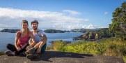 Timi et Emy à Moturua Island à la Bay of Islands