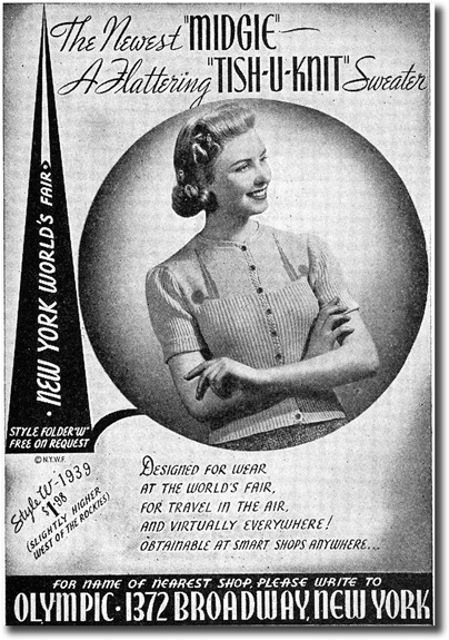 1939 Sweater Ad