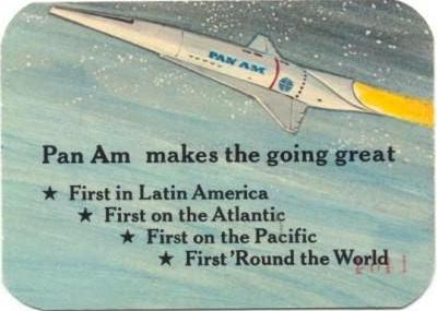 Pan Am card back