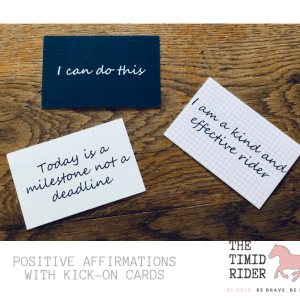 Positive Equestrian Confidence Kick-On Cards Timid Rider