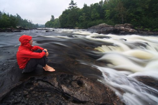 Camping in the boreal wilderness of Quebec