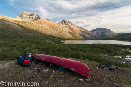 Canoe by Duo Lakes, Yukon