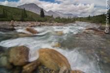 Reptile Creek flowing towards the Snake River, Yukon