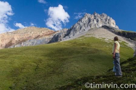 woman on mountain in Yukon
