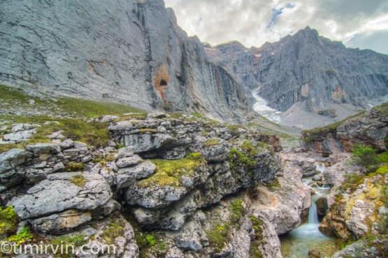 glacial stream near Mt MacDonald, yukon