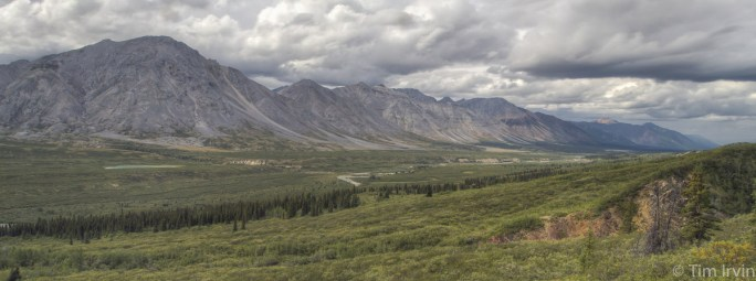 Panoramic view over the Snake River valley, Yukon