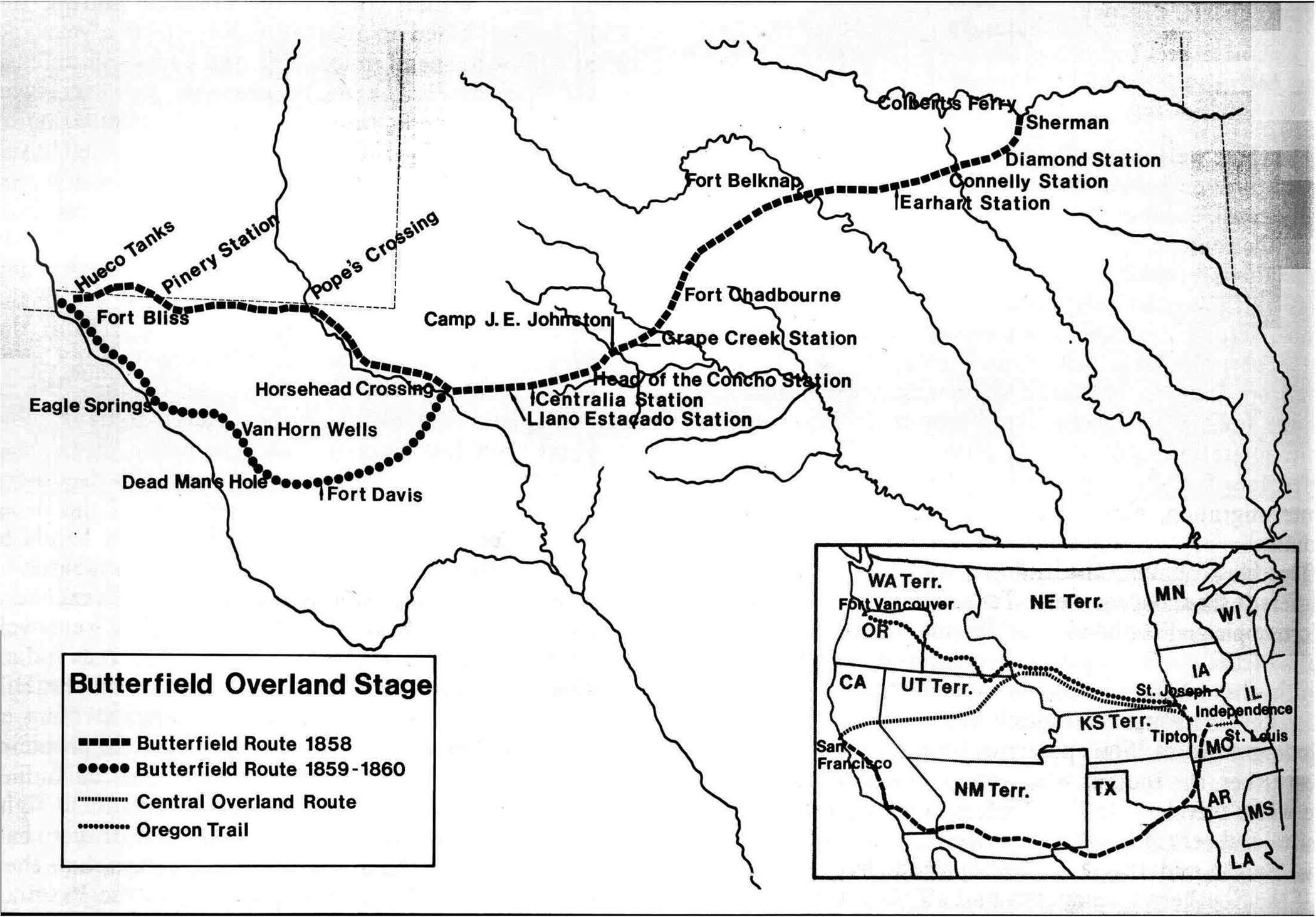 Butterfield Stagecoach Trail In Tx