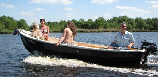 Motorbootfahren auf dem Timmeler Meer