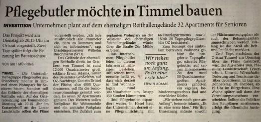 Pflegebutler plant in Timmel