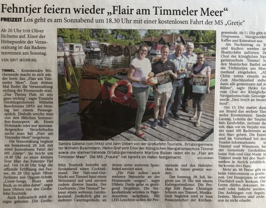 Flair am Meer 2018 in Timmel