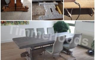 Zandstralen beitsen antiek tafel