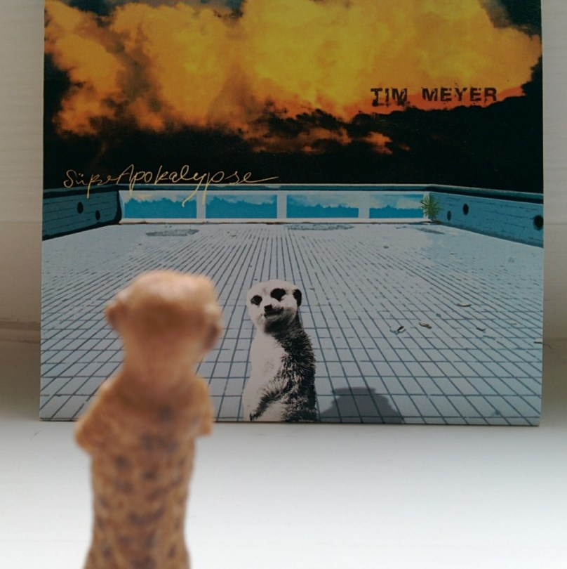 Erdmännchen vor CD-Cover