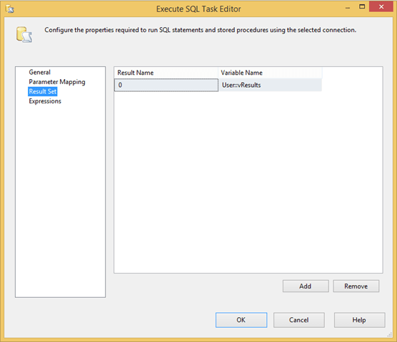The SSIS Object Variable and Multiple Result Sets - Tim Mitchell