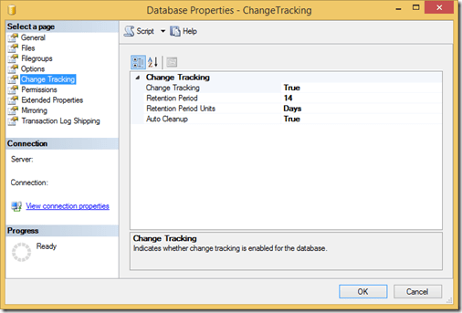 Set up Change Tracking in SQL Server