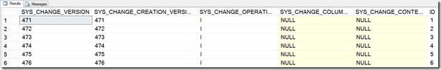 Query results from Change Tracking in SQL Server