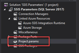 SSIS Project Parameter