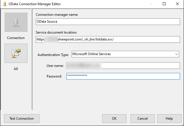 Connecting to SharePoint Lists with SSIS