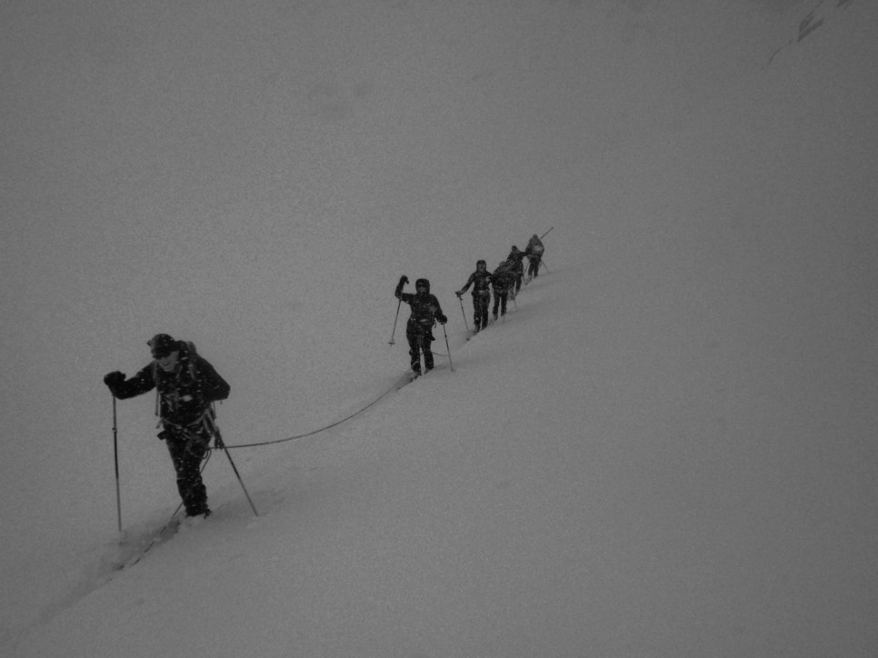 Heading up to the Vignettes with no view