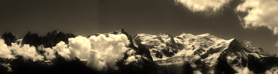 Chamonix Aiguilles and Mt Blanc from the Brevent