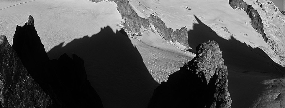 Nice shadows below the Aiguilles Marbrees