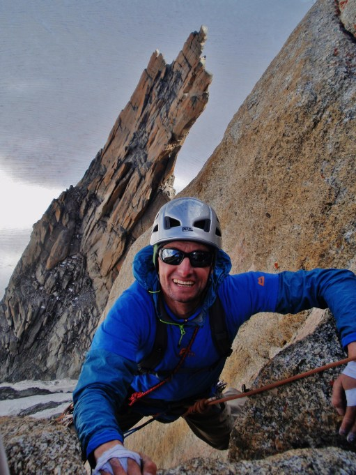 """Keith """"crusher"""" Ball deeply satisfied (astonished) that rock can be this good in the Alps!"""