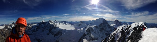 Summit view of all of the Alps