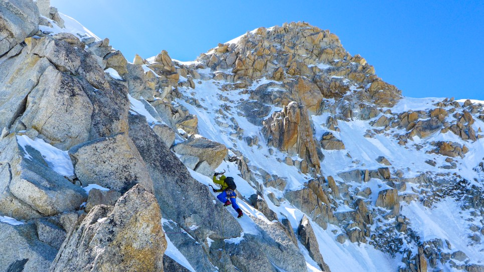 Keith heading to Grand Rocheuse summit