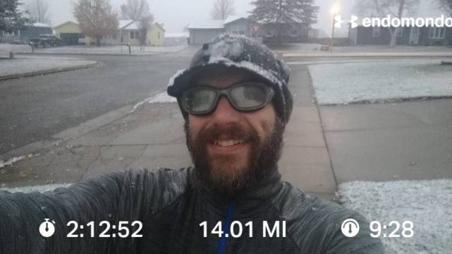 A Little 14 Mile Run Before Starting The Day