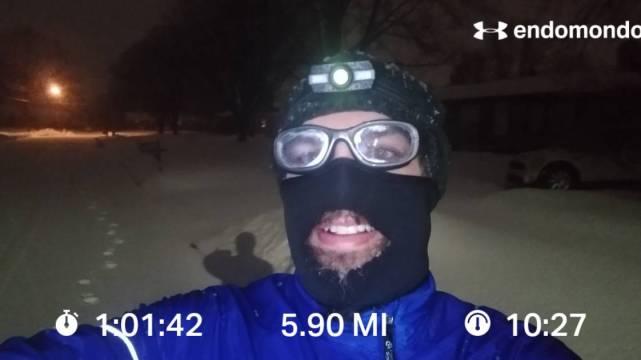 A Brutal Winter Run