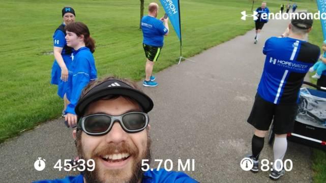 Enjoying A Run With The Team