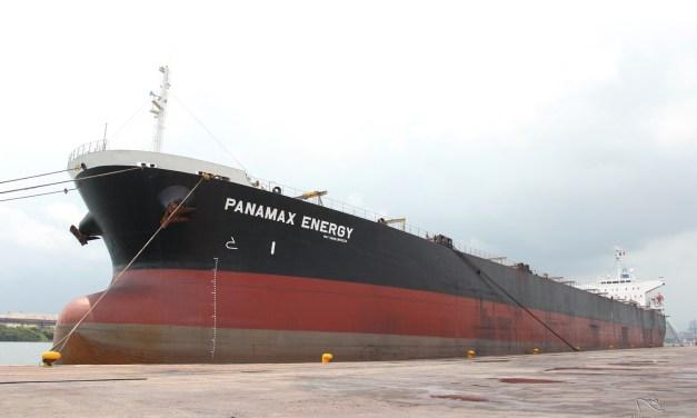 ABANDERAN BUQUE PANAMAX ENERGY EN EL PUERTO LÁZARO CÁRDENAS