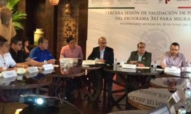 Invierten 26.8 mdp en obras en beneficio de migrantes michoacanos
