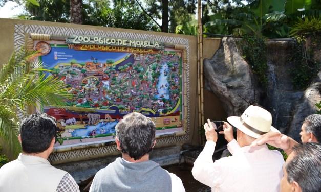 El Zoológico de Morelia devela mapa ilustrativo de sus instalaciones