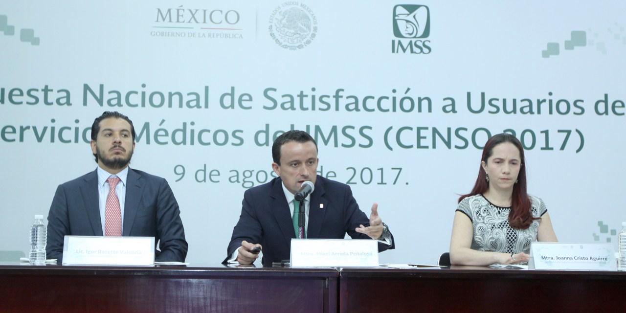 LOGRA EL IMSS CALIFICACIÓN HISTÓRICA EN LA SATISFACCIÓN DE SUS SERVICIOS