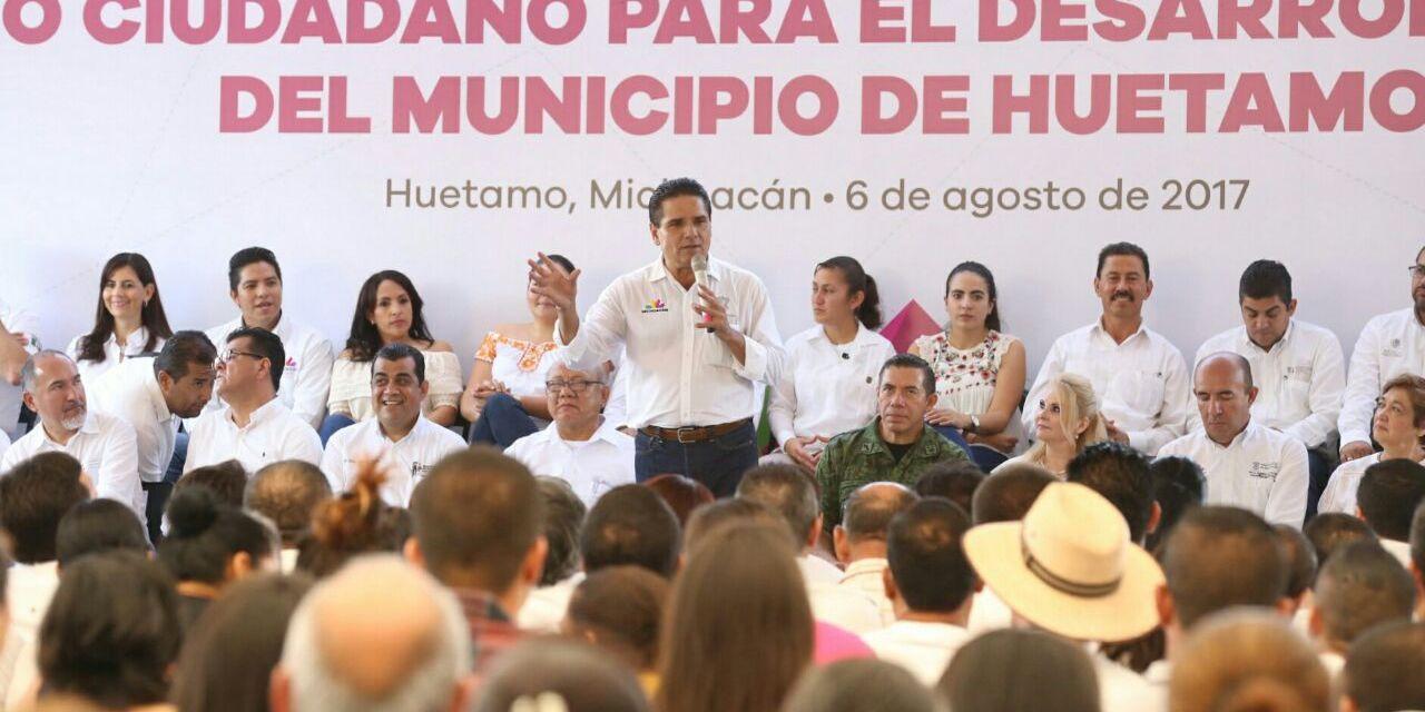 Con la participación de ciudadanía, transformamos a Huetamo: Silvano Aureoles