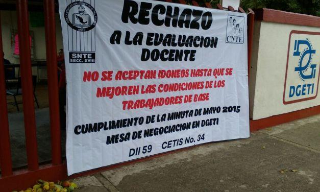 Inicia ciclo escolar en el CETis 34 con un paro magisterial de brazos caídos: CNTE