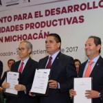 Firma Gobernador convenios con NAFIN y FIRA para derrama crediticia de 500 mdp
