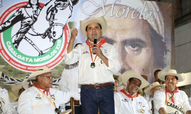 Somos partidiarios y admiradores de la obra de Morelos: Silvano Aureoles