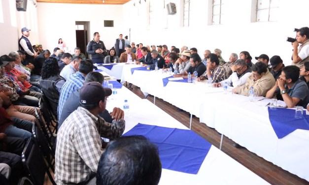 Gobierno dialoga con autoridades comunales de Paracho